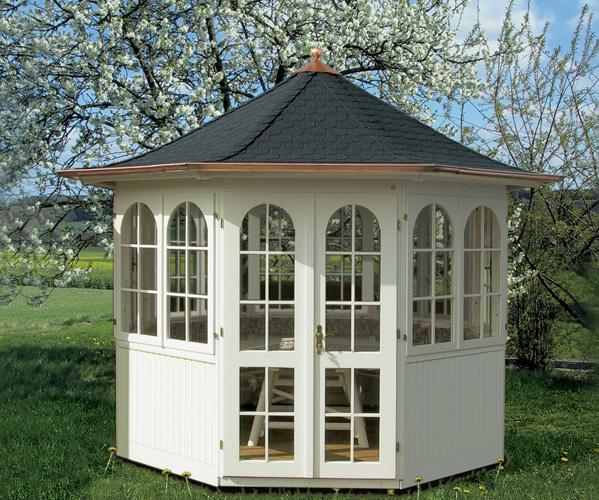 hochwertiger gartenpavillon bellevue von riwo gartenhaus. Black Bedroom Furniture Sets. Home Design Ideas