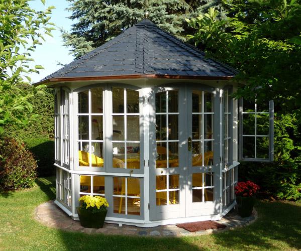 Gartenhaus glas elegance ein gartenhaus von riwo - Gartenpavillon glas ...