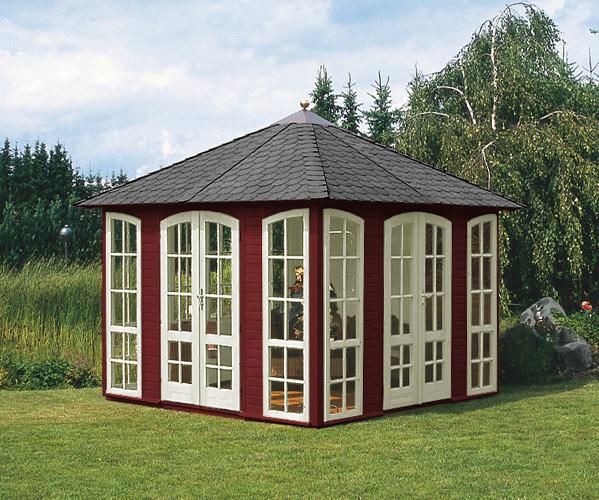 hochwertige gartenlaube villino von riwo gartenhaus aus holz. Black Bedroom Furniture Sets. Home Design Ideas