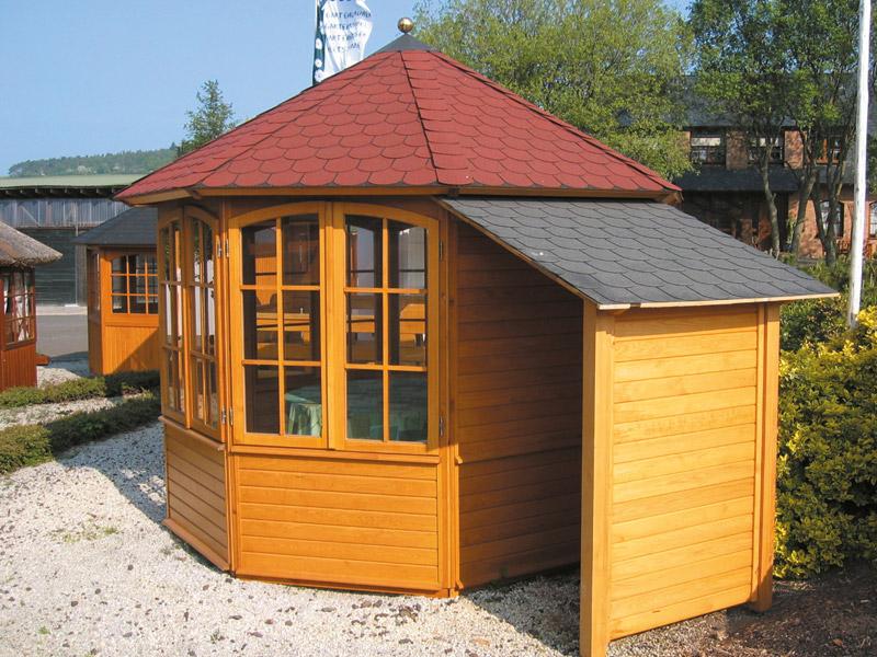 gartenpavillon gartenhaus linea von riwo geschlossene gartenlaube. Black Bedroom Furniture Sets. Home Design Ideas
