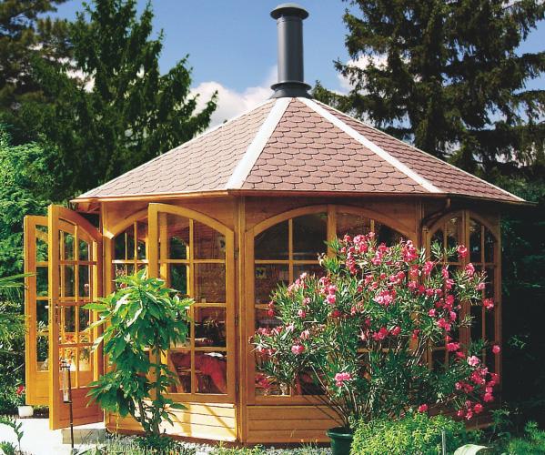 raucherpavillon grillpavillon aus holz grillh tte von riwo. Black Bedroom Furniture Sets. Home Design Ideas